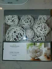THRESHOLD Vase Filler NEW IN PACKAGE Unscented Rope 10 Balls Cream Natural