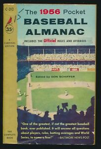 "1956 ""The 1956 Pocket BASEBALL ALMANAC"" (Cardinal Pocket Edition) -Softcover"