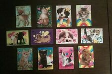 Lot Set of 12 FURRY FRIENDS Stickers Vending Machine Party Favors Dogs Kittens