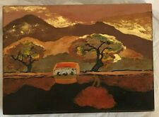 LARGE LACQUER HAND-PAINTED VIETNAMESE TRINKET BOX