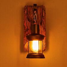 Antik Wandleuchter Licht Retro Vintage Industriell Holz Wandleuchte Wand Lampe