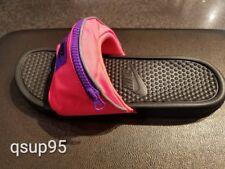 8c6b0949ba7f Nike Benassi JDI Fanny Pack Slide Hyper Punch Pink Black AO1037-600 Men s  ...