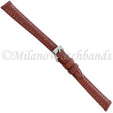 Leather Stitched Watch Band 3266 12mm Milano Tan Lizard Grain Genuine