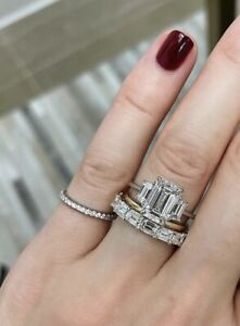 ~* New Auth. Ring Concierge Stackable Pavé Diamond Ring 14K Yellow Gold *~