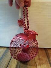 disney wire copper ball icon mickey ears red large ornament xmas