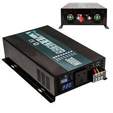 3000W Pure Sine Wave Inverter 12V/24/48V to 240V Car Power Inverter LED Display