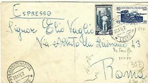 1952 60L ICAO +15L LAV9RO SU ESPRESSO DA S.DONATO LECCE X ROMA