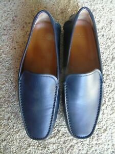 NEW BALLY WOLTON NAVY LEATHER LOAFERS US 6.5D/EU 5.5 $285+TAX RETAIL ITALY MADE