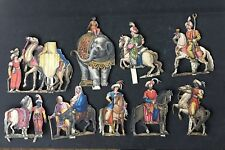 German Hand Painted Paper Figures Circa 1860s. Biblical Scenes. Lot 1 Of 4