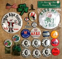 Mixed Lot of Political & Other Novelty Buttons & Pins