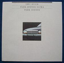 Prospekt brochure 1991 Buick Park Avenue * Park Avenue Ultra (USA)
