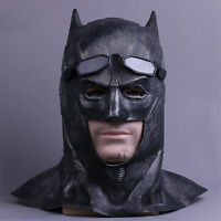 New Justice League The Batman Latex Helmet Mask Halloween Fancy Cosplay Props