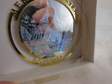 Alaska souvenir 24k Gold Finish Brass Christmas Ornament Hologram