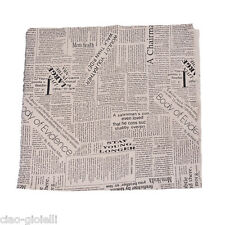1pc Newspaper Linen Cotton Fabric Patchwork DIY Sewing Fabric 97x50cm