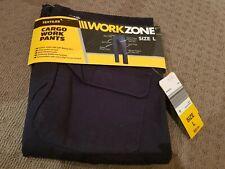Workzone Navy Cargo Work Pants Size L
