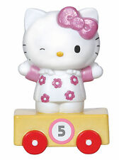 Precious Moments Hello Kitty BIRTHDAY Train Car AGE 5 Porcelain Figurine SANRIO