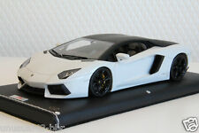 1/18 MR Lamborghini Aventador LP700-4 White/Black Roof #02 Free Shipping/ BBR