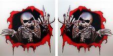 Stinkefinger Mittelfinger 2x Skull Aufkleber Motorrad Totenkopf  LKW Schädel #35