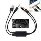 For BMW Mini iPod iPad iPhone 5 5S 5C 8pin USB 3.5MM AUX Interface Cable Adapter