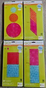 Accuquilt Go! Fabric Cutting Dies - Square, Rectangle, Circle, Parallelogram