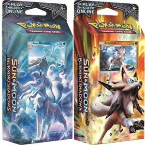 Pokemon Burning Shadows Luminous Frost & Rock Steady 2 Theme Decks