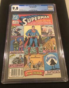 CGC 9.8 Superman #423 KEY Last Issue (Sept 1986) NO RESERVE PERFECT