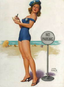 Earl Moran Pin Up Girls Now I'll Do the Whistling Giclee Paper Print Poster