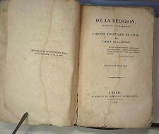 De La Mennais; De la religion avec l' ordre politique 1826…World FREE Shipping*