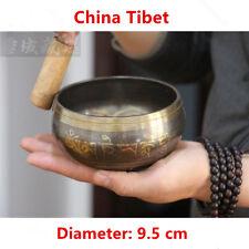 1 Set Copper Buddha Sound Bowl Yoga Chinese Tibetan Meditation Singing Bowl