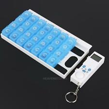 Pillendose Vitamine & Tablettenspender Pillenbox  mit Alarm Tablettenbox 1 Woche