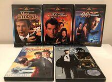 James Bond 007 5 Movies DVD Lot w bonus music CD Golden Gun, Casino Royale, etc