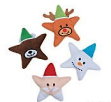 Peluche Stelle di Natale (Set 4) Babbo Natale, Pupazzo di Neve, Renne e Orso