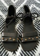 ECOTE Leather Sandals Boho Byron Bay Festival Indi Black Size US 5/6