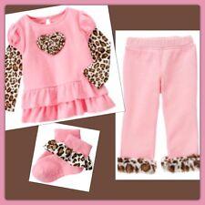 NWT 3T Gymboree PARISIAN CHIC pink 3pc SET Outfit TUNIC TOP, PANTS faux fur SOCK