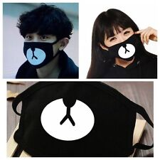 Cute Men Women Cycling Anti-Dust Cotton Mouth Face Mask Kawaii Bear Mouth Black