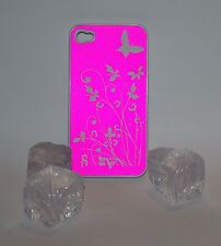 ALU HARD CASE Butterfly Schmetterling iPhone 4 4G HÜLLE SCHUTZ COVER Aluminium