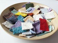20g Hand Dyed, Felted Felt Pieces, Hand Felted, 100% Wool, Crafting