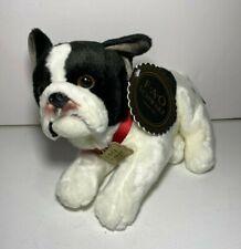 "FAO Schwarz Plush Puppy Dog Lying French Bulldog 12"" (New w/ Tags) FREE SHIPPING"