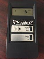 MEDCOM RADALERT 50 DIGITAL NUCLEAR RADIATION MONITOR ALERT GEIGER COUNTER W CASE