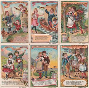 Original Liebigbilder Serie Nr. 385 von 1897- Volkslieder III - guter Zustand