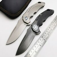 High Quality Tactical Folding Knife Ball Bearing D2 Blade Steel Handle EDC Tools