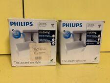 2xNew Philips My Living Spotlight Halogen Ceiling Light Wall Lamp 54270-17-16