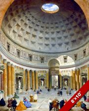 INSIDE THE PANTHEON ROMAN GODS TEMPLE ROME ITALY PAINTING ART REAL CANVASPRINT