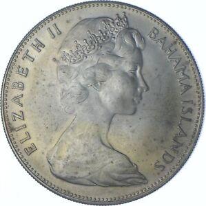 Better Date - 1970 Bahama Islands 5 Dollars - SILVER *542