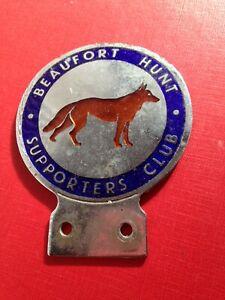 Vintage Car Badge Bar Badge Enamel Beaufort Hunt Supporters Club