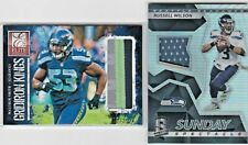 LOT Russell Wilson / Malcolm Smith Seahawks ^ Elite Jumbo Game Jersey Patch /25