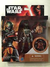 """Star Wars The Force Awakens BOBA FETT Armor Up 3.75"""" Figure RARE"""