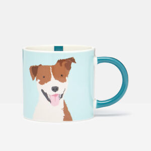 Joules Dog Blue Mug Coffee Drinks Mug Colourful Quirky Animal Print Gift