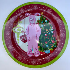 2011 KCare A Christmas Story 4 Plastic Dinner Plates Ralphie in Pink Bunny Suit
