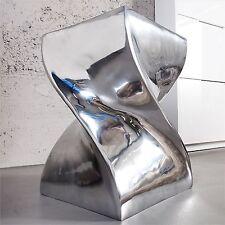 "DESIGN STOOL ""KINKY"" | silver, 12""x17.5""x12"", aluminium | side table, decorative"